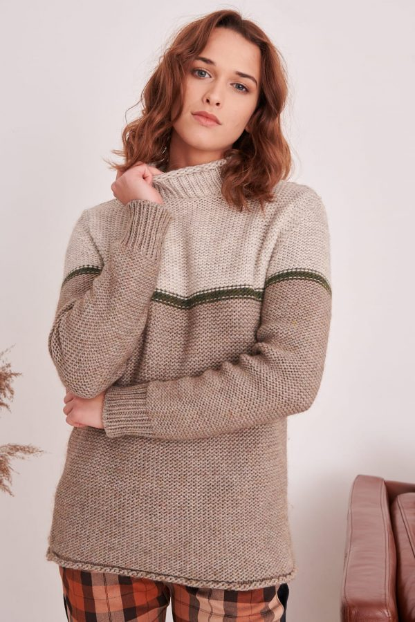 alpakos vilnos megztinis